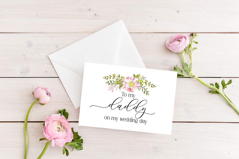 Daddy wedding card Father of the bride Wedding card On my wedding day To my daddy on my wedding day