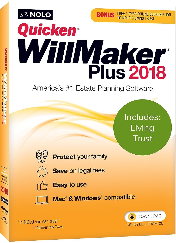 Amazon Nolo Quicken Willmaker Plus 2018 Living Trust Software