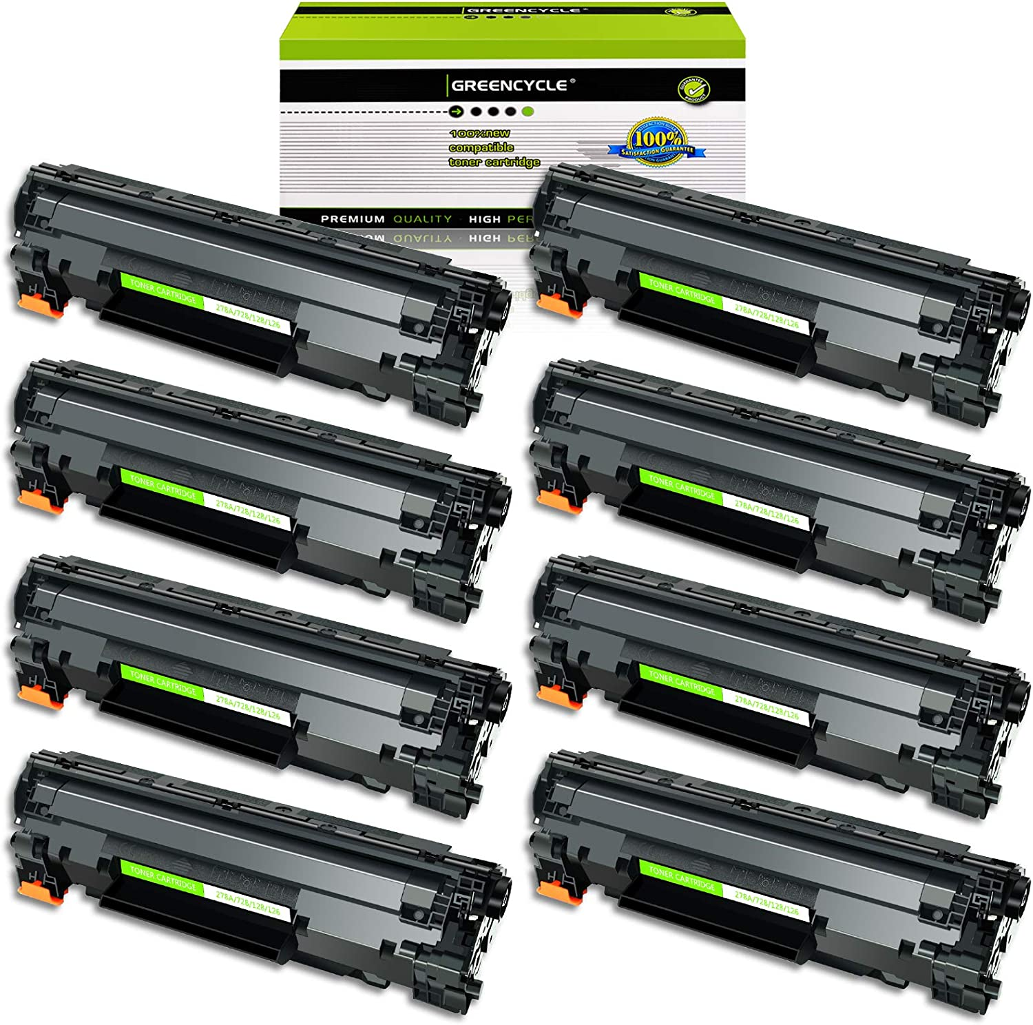 3500B001AA Black Toners use in Imageclass D530 MF4580dn MF4412 GREENCYCLE 8 PK Toner Cartridge Replacement Compatible for Canon 128