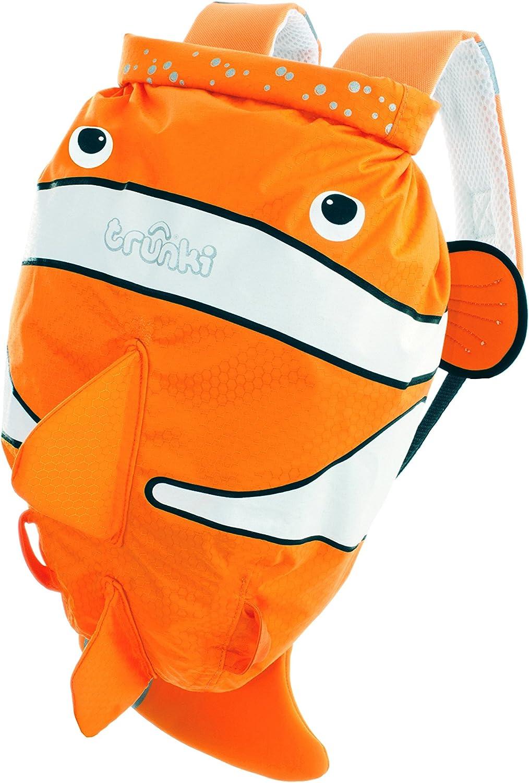 Trunki PaddlePak - Mochila infantil impermeable para piscina y gimnasio, Naranja, 37 x 29 x 17 cm