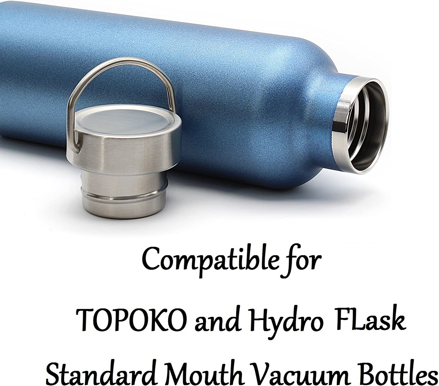 TOPOKO 2-PACK Replacement Lids For Standard Mouth Water Bottle Vacuum Insulated Double Wall Stainless Steel 2-PACK Metal /& Twist Lid Standard Mouth