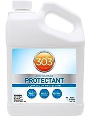 303 (30320-4PK) UV Protectant Gallon for Vinyl, Plastic, Rubber, Fiberglass, Leather & More – Dust and Dirt Repellant - Non-Toxic, Matte Finish, 128 Fl. oz., (Pack of 4)