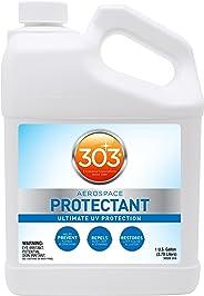 303 (30320) UV Protectant Gallon for Vinyl, Plastic, Rubber, Fiberglass, Leather & More – Dust and Dirt Repellant - Non-Toxic, Matte Finish, 128 Fl. oz.