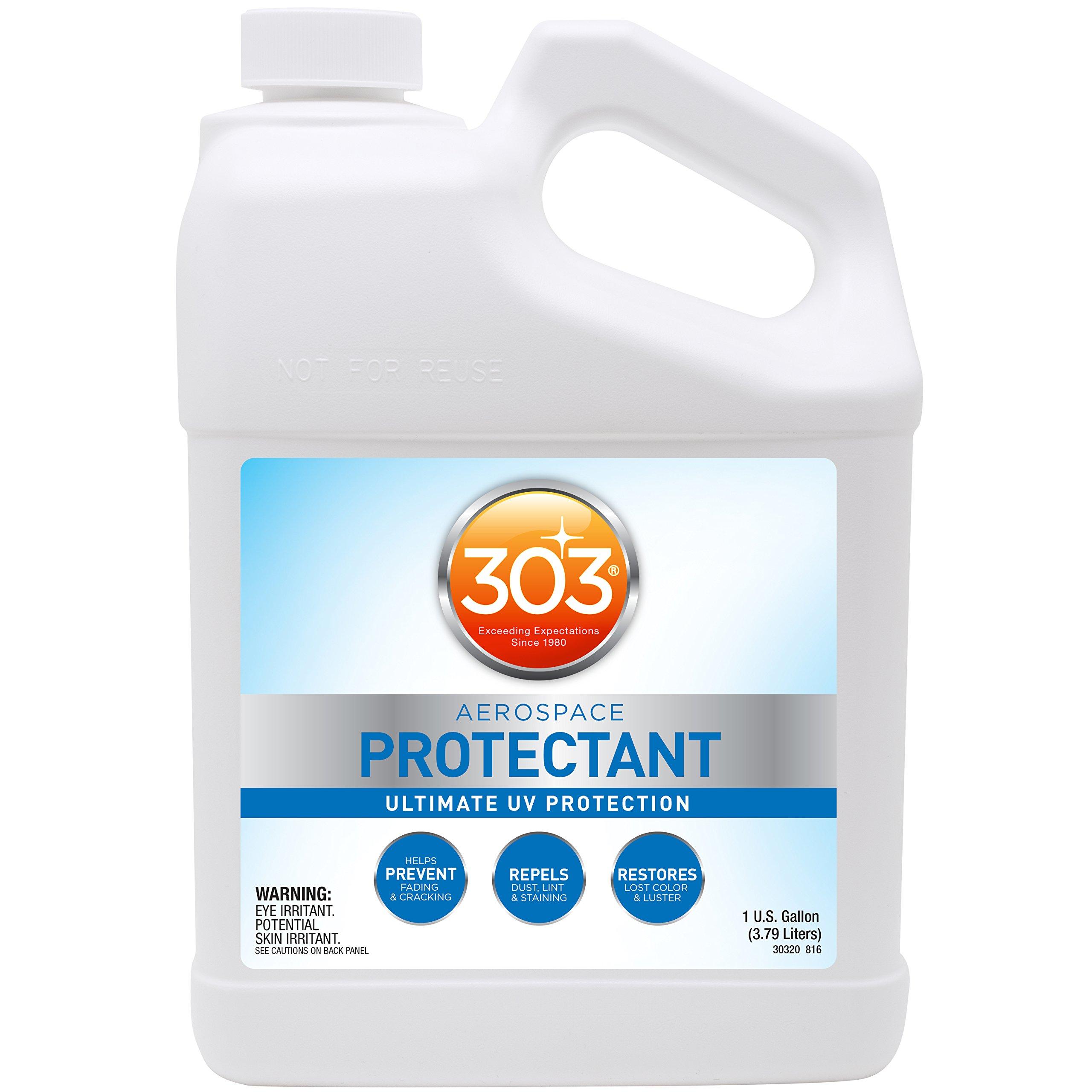 303 (30320-4PK) UV Protectant Gallon for Vinyl, Plastic, Rubber, Fiberglass, Leather & More - Dust and Dirt Repellant - Non-Toxic, Matte Finish, 128 Fl. oz., (Pack of 4)