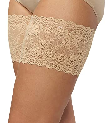 2b5e76f207eda Bandelettes Elastic Anti-Chafing Thigh Bands - Prevent Thigh Chafing -  Beige Onyx, Size