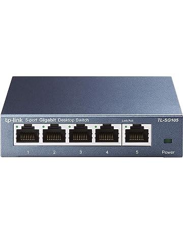 TP-Link 5 Port Gigabit Ethernet Network Switch | Ethernet Splitter | Sturdy Metal w/ Shielded Ports | Plug-and-Play | Traffic Optimization | Unmanaged (TL-SG105)