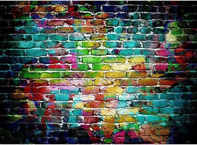 KOLCY Vinyl Brick Wall Photography Backdrops Retro Photo Studio Pros Background