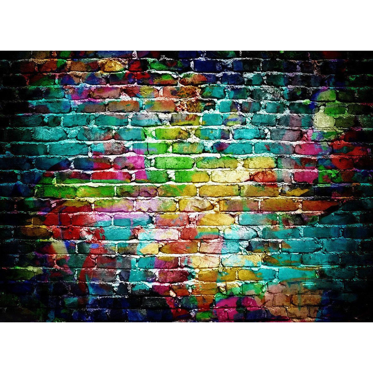 Mohoo 7x5ft colorful brick wall silk photography backdrop for studio prop photo background 2 1x1