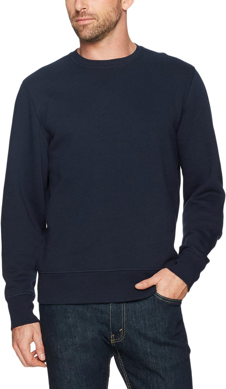Essentials Mens Long-Sleeve Crewneck Fleece Sweatshirt