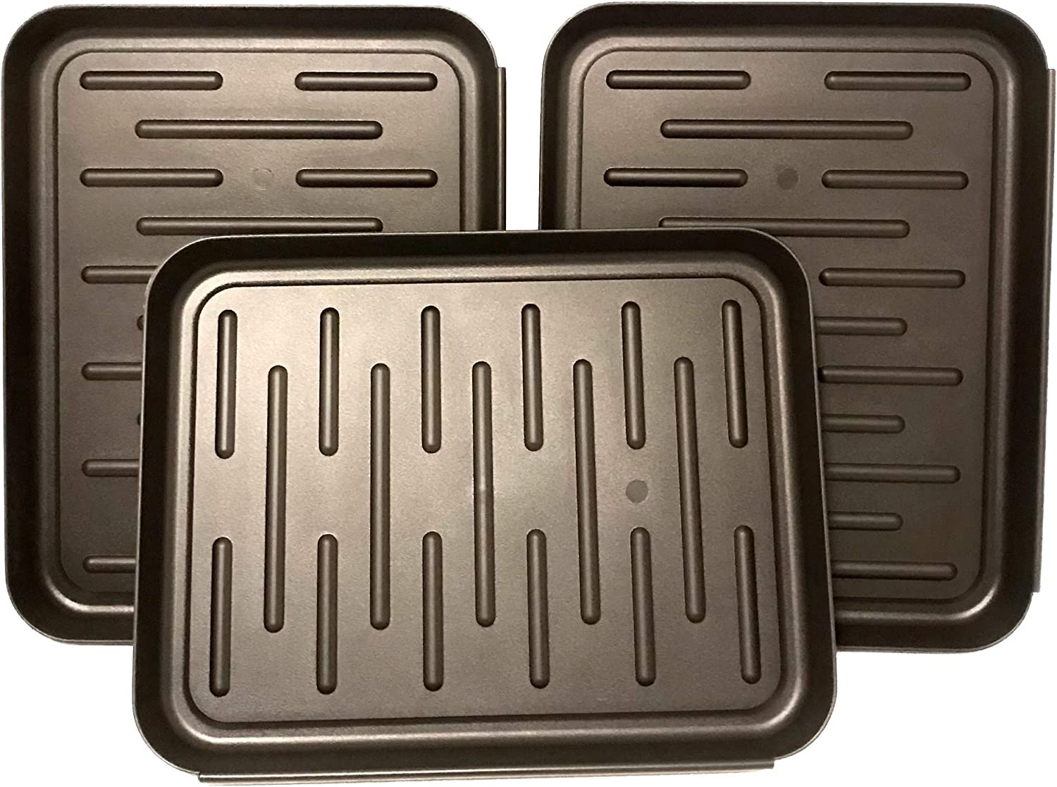 Boot Tray - Shoe Mat - Dog Food Mat - Garden Tool Tray - Multipurpose for Indoor & Outdoor - Floor Protection (3 Pack, 11 x 14 Inch)