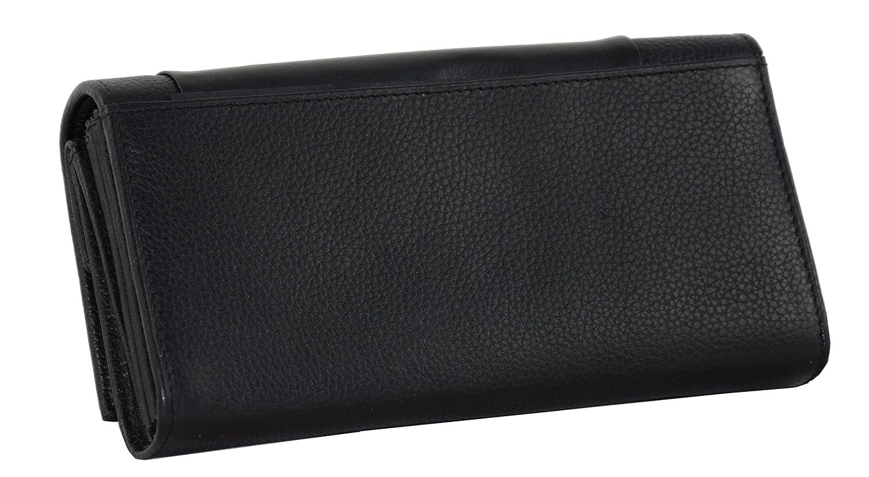 Kellnerbeutel schwarz Menzo Kellnerb/örse aus echten Leder Kellnerportemonnaie Kellnertasche