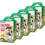 Fujifilm Instax Mini Film, Multi-Pack White (5 x 2pk, 100 shots total)