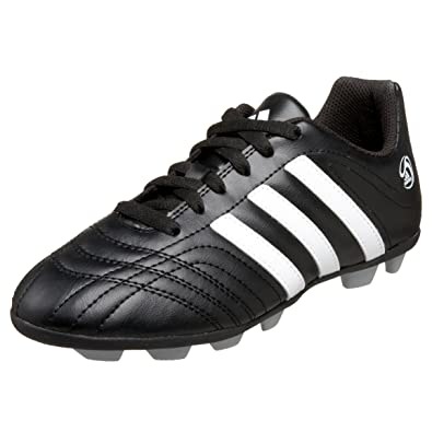 adidas Little Kid/Big Kid Goletto TRX HG Soccer Cleat,Black/Running White