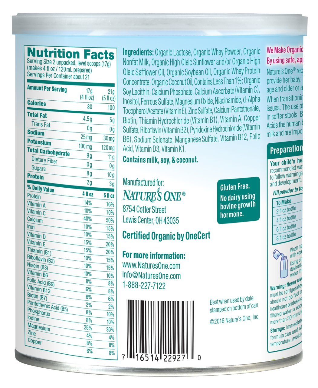 Baby's Only Toddler Formula, Dairy with Whey Protein, 12.7 Ounce (Pack of 6) by Baby's Only (Image #3)