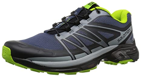 Salomon L38155500 Wings Pro 2 Mesh Trail Running Shoes, Men's (Black)