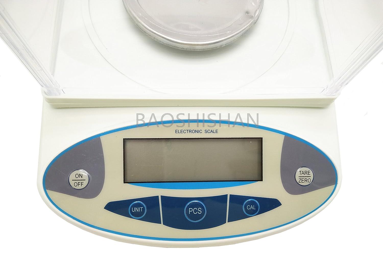0.01g, 5000g BAOSHISHAN 5000g//0.01g Analytical Electronic Balance Lab Digital Balance Scale High Precision Balances Jewelry Scales Kitchen Precision Weighing Pan Size=180x160mm