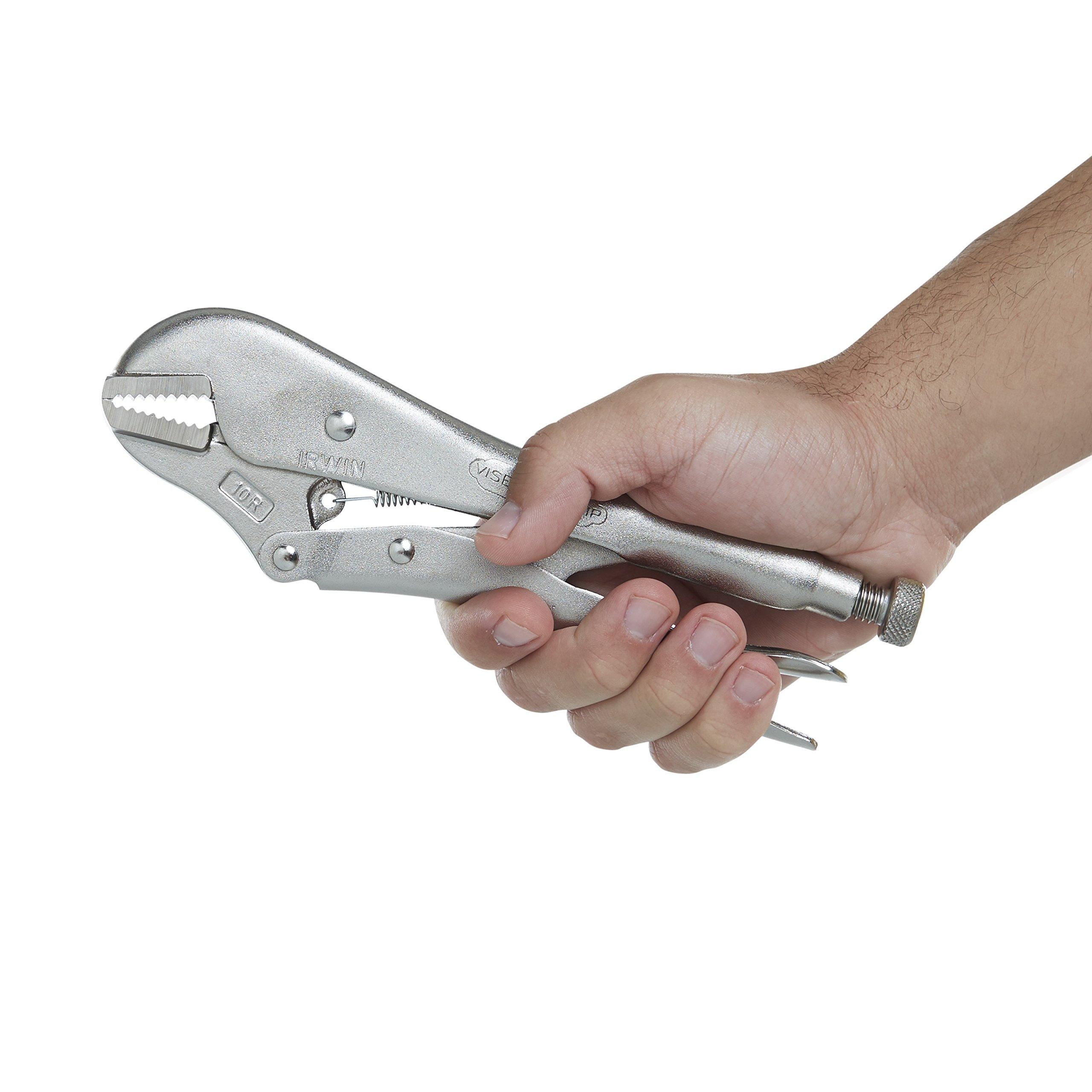 IRWIN Tools VISE-GRIP Locking Pliers, Original, Straight Jaw, 10-inch (102L3) by Irwin Tools (Image #3)