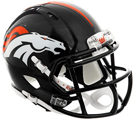 Image Unavailable. Image not available for. Color  Riddell Denver Broncos NFL  Replica Speed Mini Football Helmet d9bd82cfe