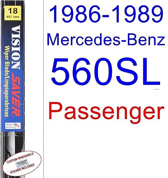 Amazon.com: 1986-1989 Mercedes-Benz 560SL Wiper Blade (Passenger) (Saver Automotive Products-Vision Saver) (1987,1988): Automotive