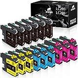 IKONG Compatible Ink Cartridges Replacement for Brother LC203 LC201 LC203XL LC201XL use with MFC-J480DW J485DW J460DW J680DW