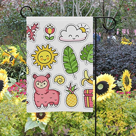 LAZEN Ovejas Rosadas de Doble Cara estacional Home Garden Flags Holiday Party Decoration 28x40 Pulgadas: Amazon.es: Jardín