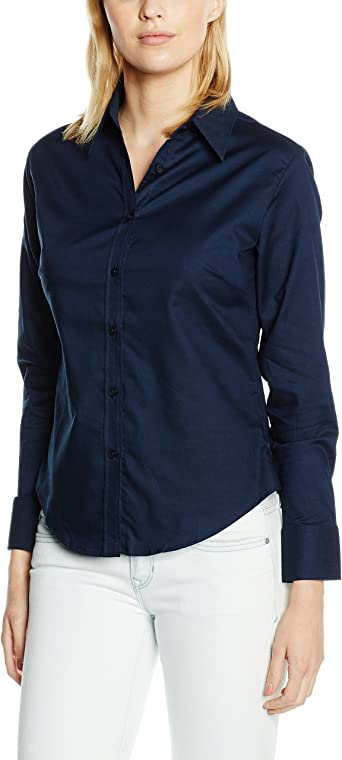 Fruit of the Loom Oxford Long Sleeve Camisa para Mujer: Amazon.es: Ropa y accesorios