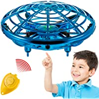 Hand Operated Mini Toy Drone for Kids, Upgraded UFO Flying Ball Toy with LEDs, USB Rechargeable Indoor Drone, Most Popular 2020 Birthday Gift for 4, 5, 6, 7, 8, 9, 10, 11, Year Old Boys and Girls