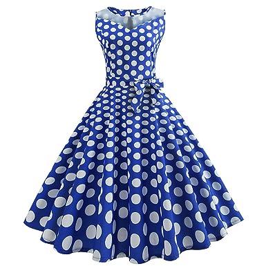 160dbe8bb8e890 50er Vintage Kleider, Loveso ❤ Damen Vintage Polka Dots A-Linie ...