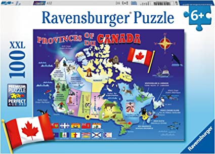 Ravensburger Canada Map Puzzle Ravensburger Map of Canada Puzzle (100 Piece), Jigsaw Puzzles
