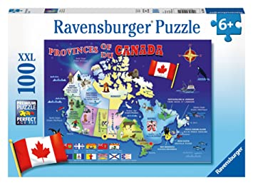 Ravensburger Map of Canada Puzzle 100Piece Jigsaw Puzzles