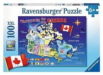 Ravensburger World Map Jigsaw Puzzle. Ravensburger Map of Canada Puzzle  100 Piece Jigsaw Puzzles