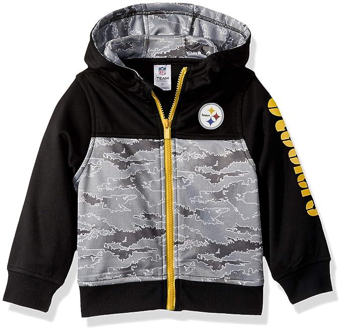 best website c5f6b 7c6be NFL Pittsburgh Steelers Unisex Hooded Jacket, Black, 4T