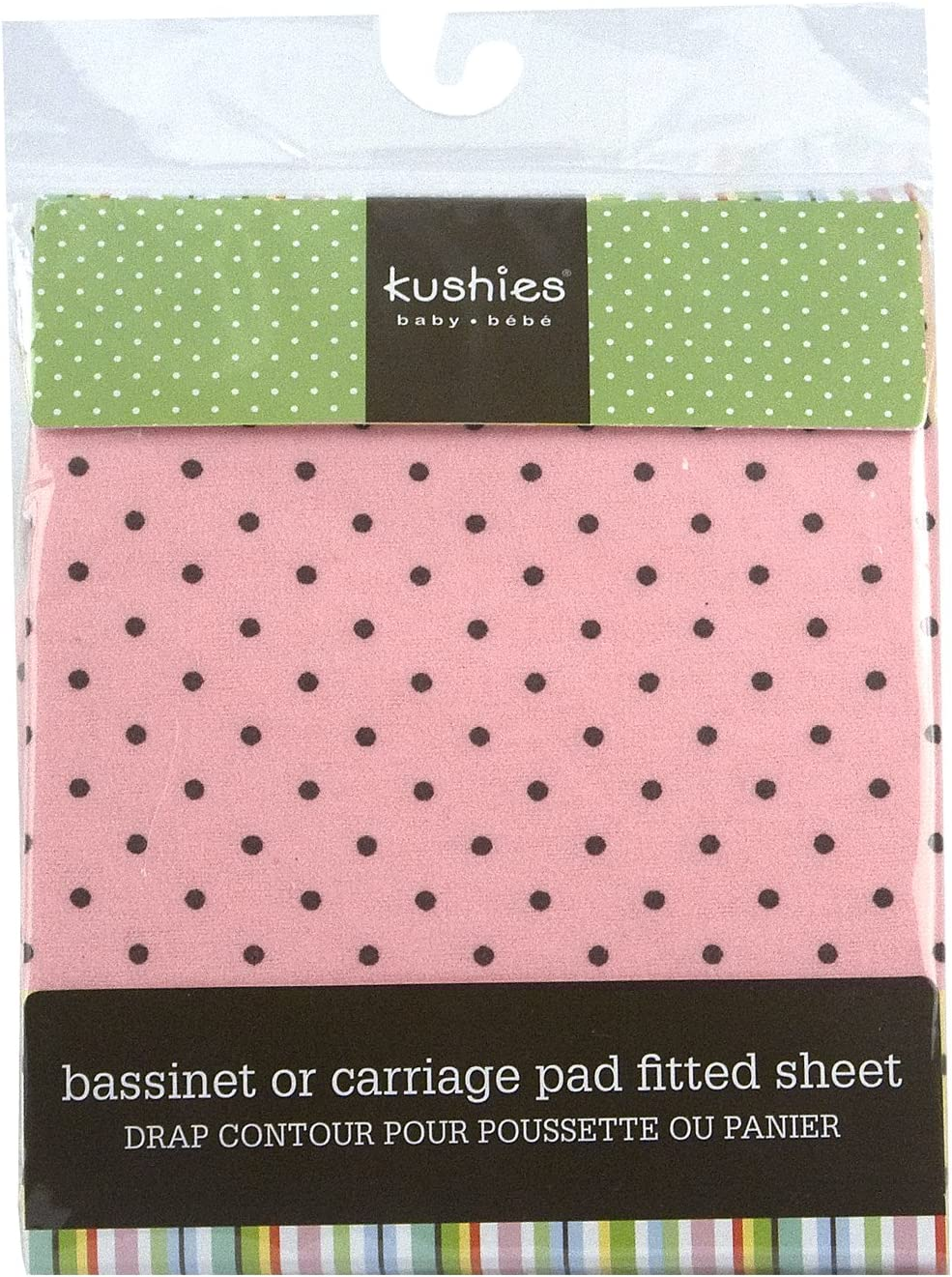 Pink Kushies S335-PNK Fitted Bassinet Sheet