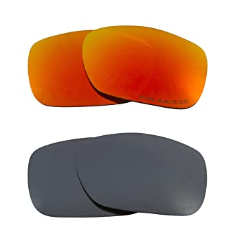 cdee7d9f50072 Image Unavailable. Image not available for. Color  TWOFACE Replacement  Lenses Polarized Black Iridium   Red by SEEK fits OAKLEY