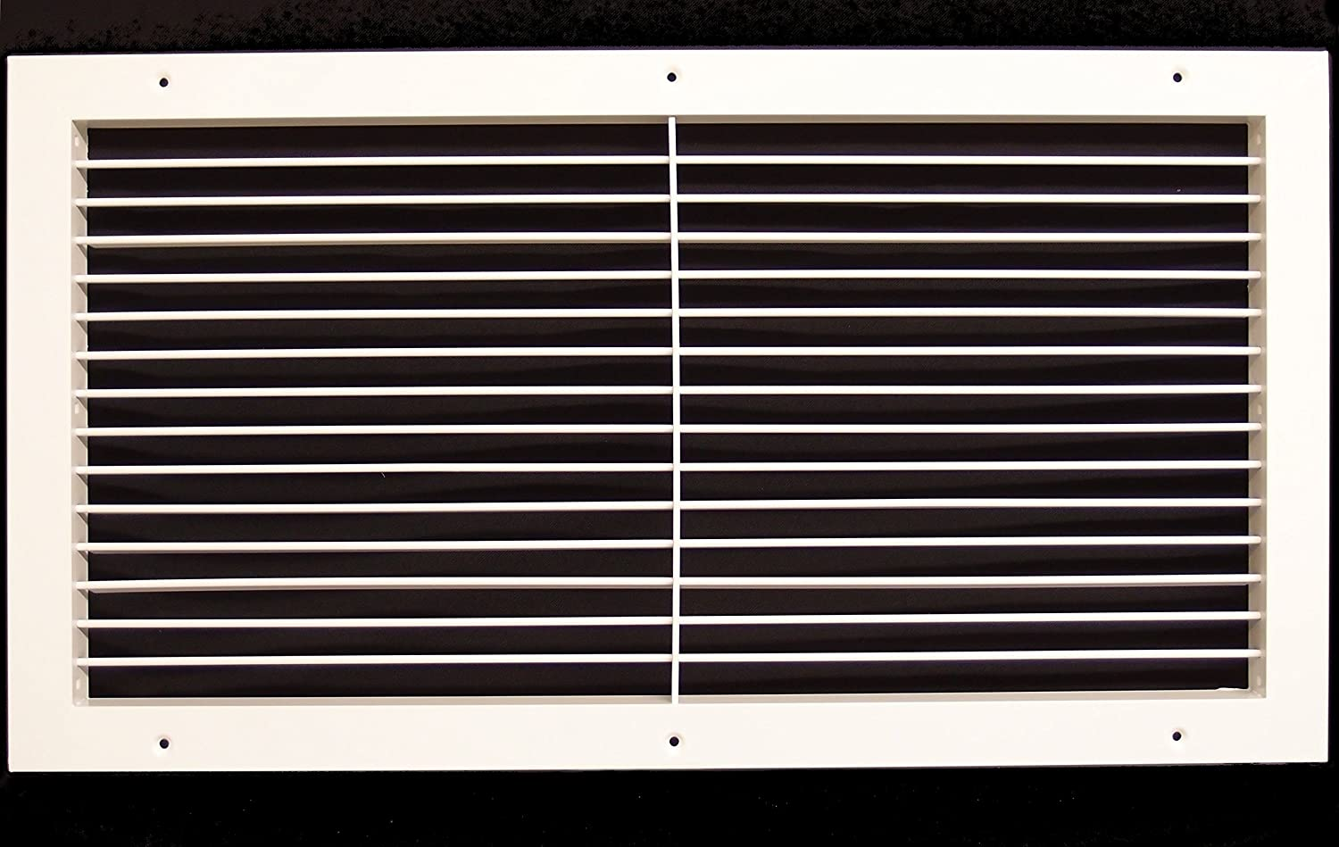 "30""w X 10""h Aluminum Adjustable Return/Supply HVAC Air Grille - Full Control Horizontal Airflow Direction - Vent Duct Cover - Single Deflection [Outer Dimensions: 31.85""w X 11.85""h]"