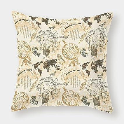 iPrint Cotton Linen Throw Pillow Cushion Cover,Wanderlust