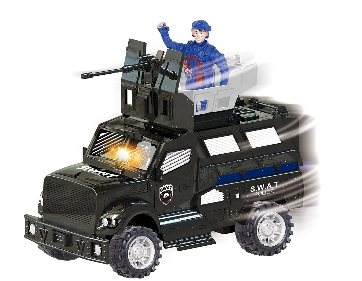 amazon com city rescue armored police swat truck vehicle with