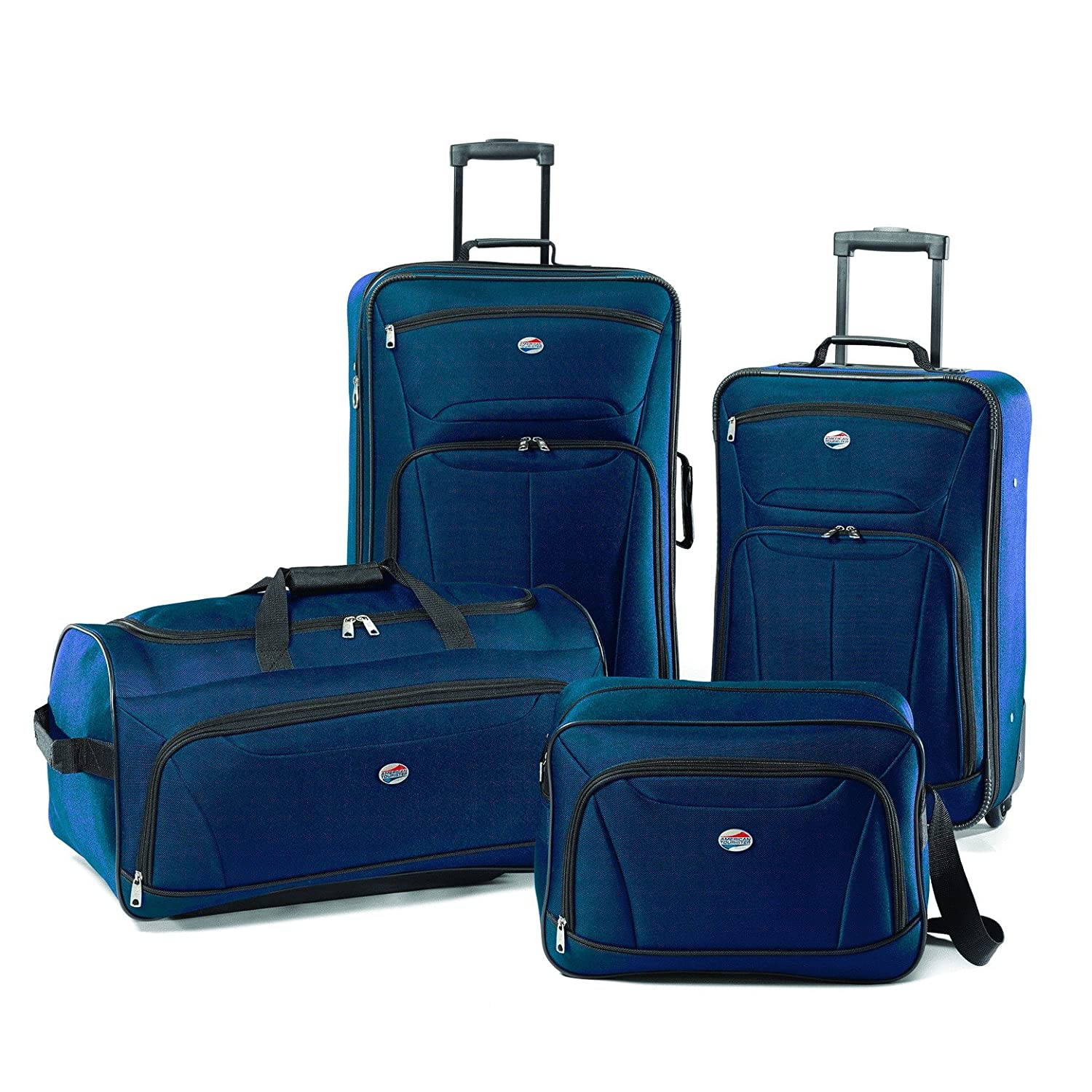 American Tourister Luggage Fieldbrook II 4 Piece Set, Black, One Size 56444