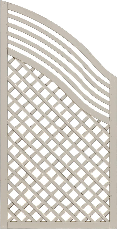 Andrewex wooden fence, fencing panel, garden fence 120 180 x 90, varnished, latte