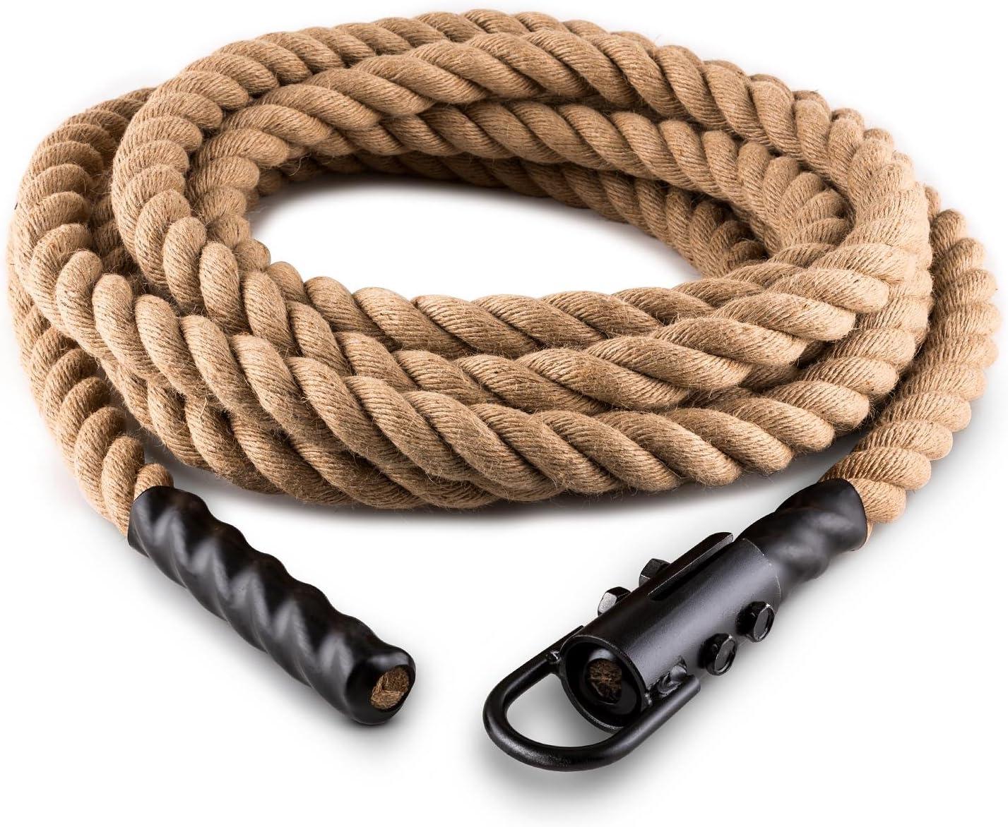 Canapa Cardio Training 9//12//15 m Cross-Training Fune con Ganci per Rope Klarfit Power Rope Diametro 3,8