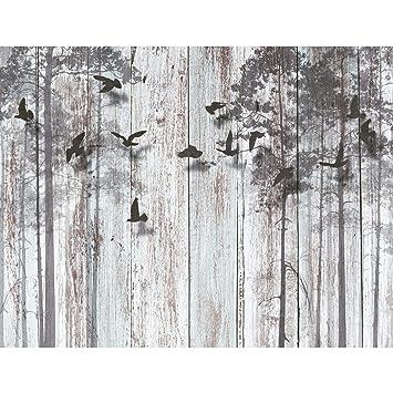 Fototapeten Abstrakt Holzoptik 352 x 250 cm Vlies Wand Tapete ...