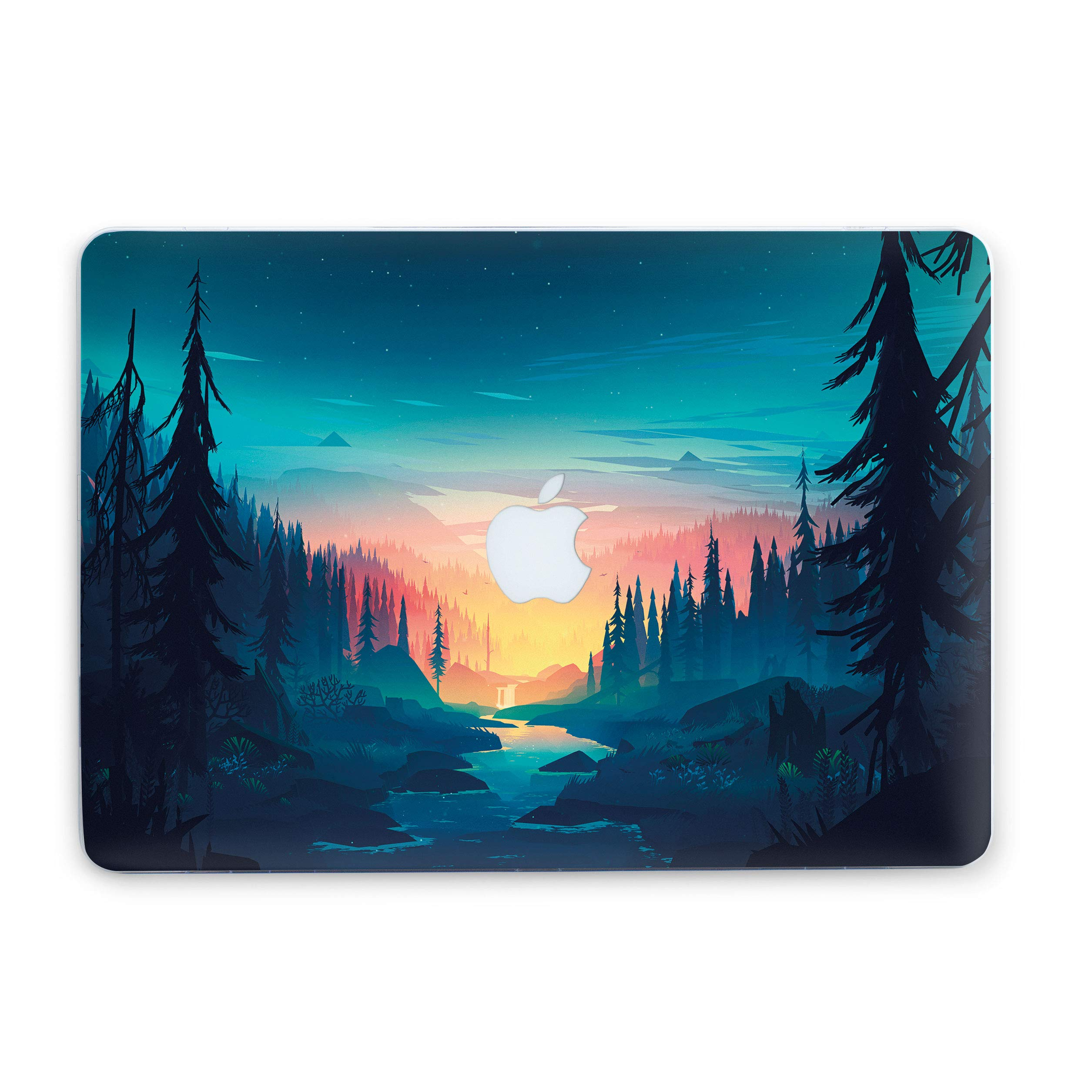 MacBook Case Nature Inspired View Landscape Protective Durable Cover for Laptop Hard Case with Printed Bottom (Air 13 (A1369 & A1466), Morning Forest)