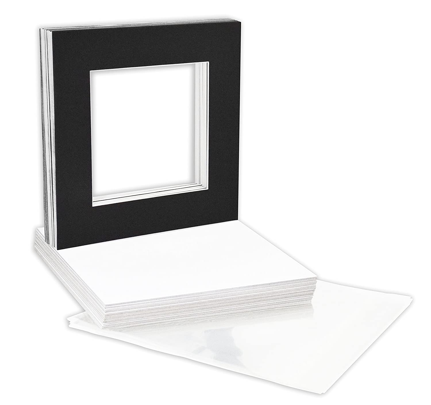Acid-Free 12 11//16 X 12 3//8 inches Crystal Clear Sleeves Storage Bags for 12x12 Photo Framing Mats Mattes Golden State Art Pack of 100