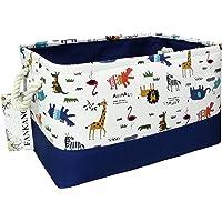 FANKANG Rectangular Laundry Basket Nursery Storage Fabric Storage Bin Storage Hamper,Book Bag,Gift Baskets (Animals)