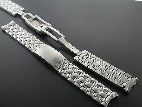 buy popular 7cdb4 37a4c Amazon | 腕時計バンド オメガ シーマスター用 高耐久 SS 18mm ...