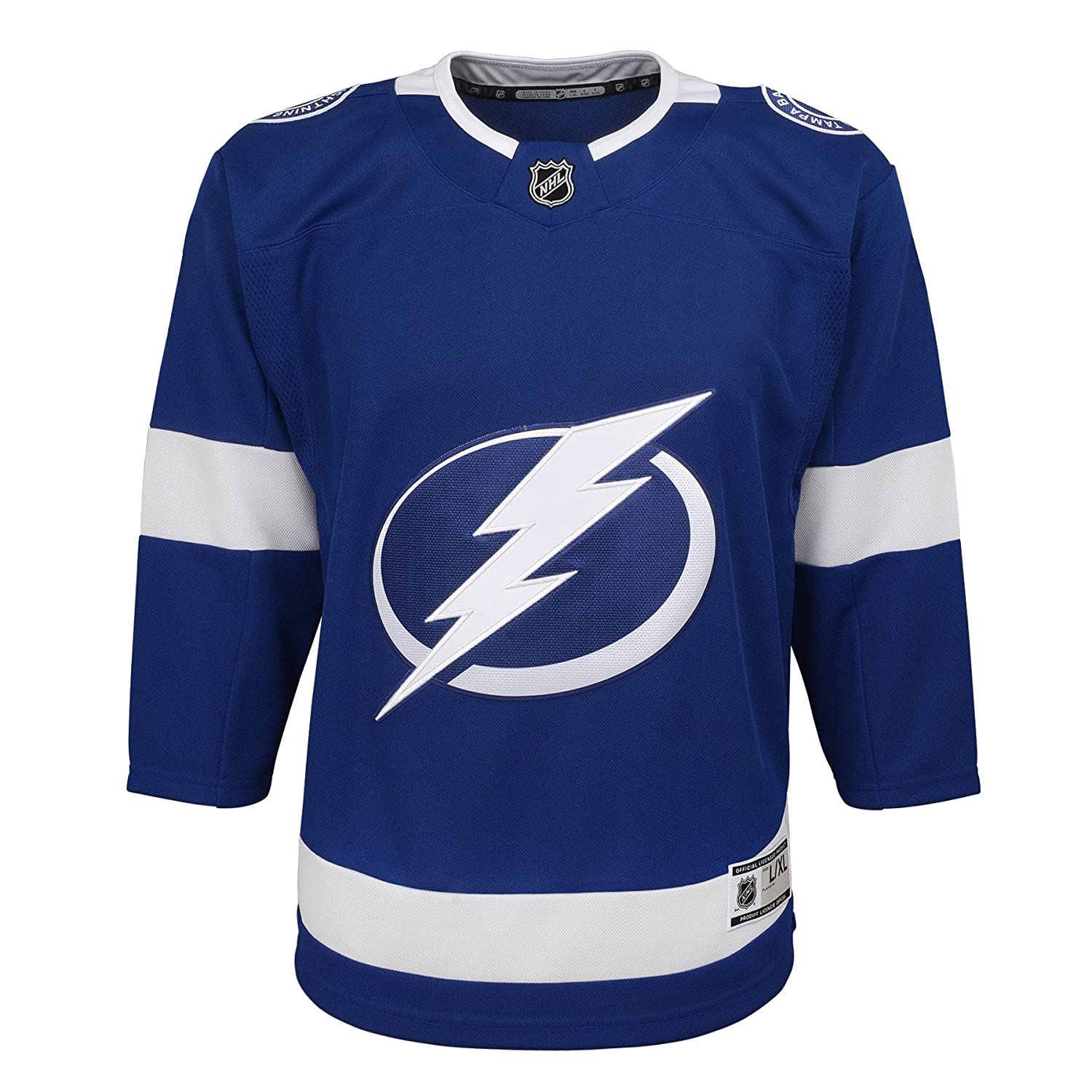 OuterStuff Tampa Bay Lightning NHL NHL Youth Premier Blank Jersey