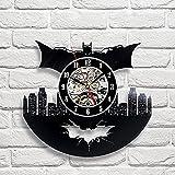 Batman Art Vinyl Wall Clock Gift Room Modern Home Record Vintage Decoration