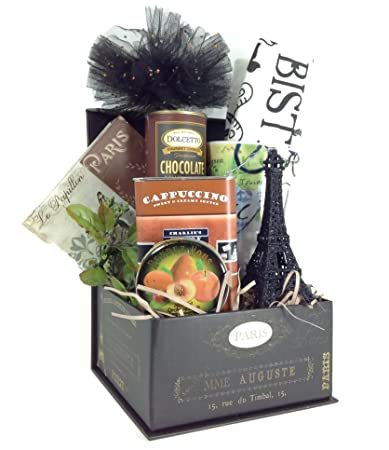 Amazon.com : 2 Sisters Gift Baskets I Love Paris Gift Basket ...