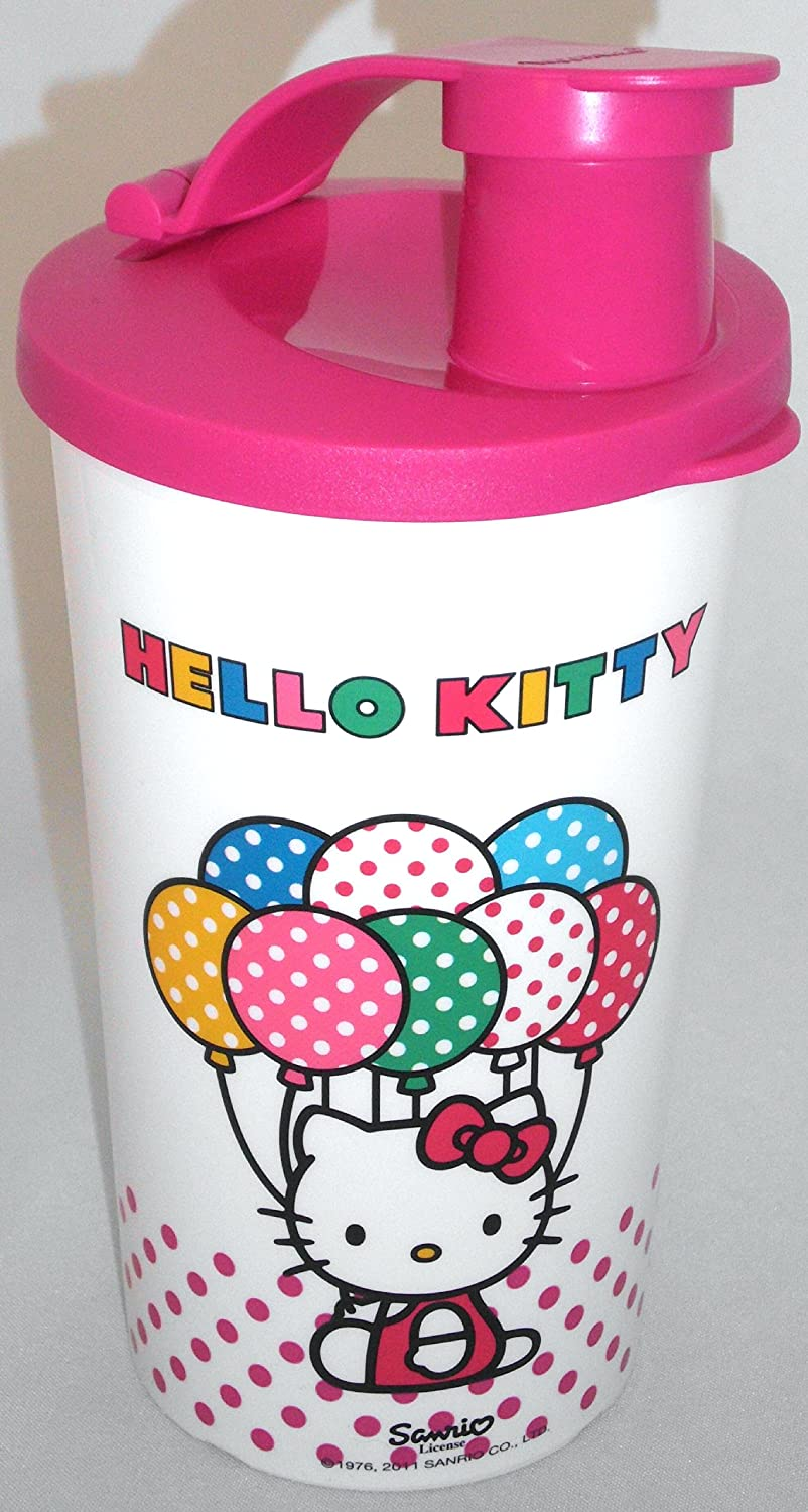 1a TUPPER Trinkflasche SPORTFREUND Becher --- 330ml --- HELLO KITTY --- pink mit Motiv