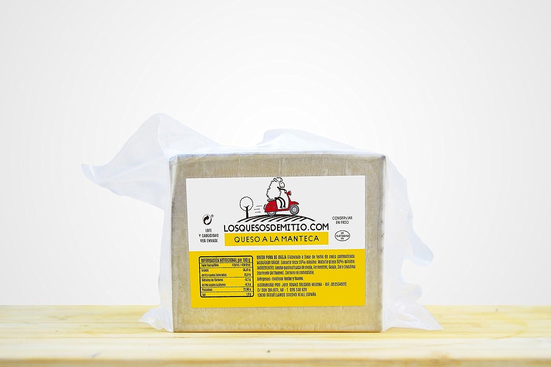 Queso de oveja a la manteca gourmet de Losquesosdemitio, cuña de 500g, envasado al vacío: Amazon.es: Alimentación y bebidas